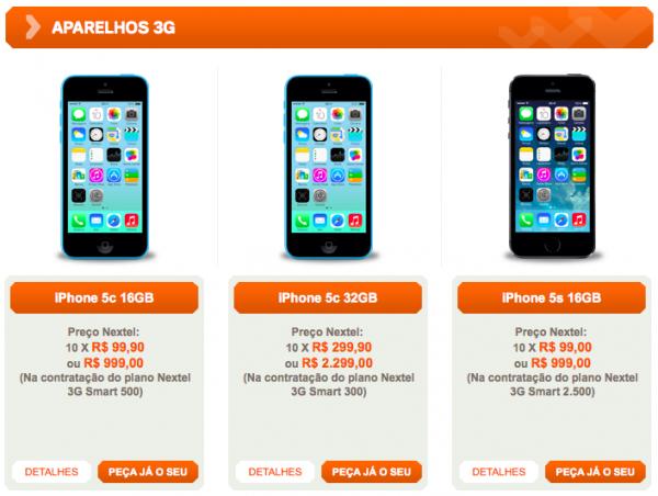nextel-iphones-5s-5c