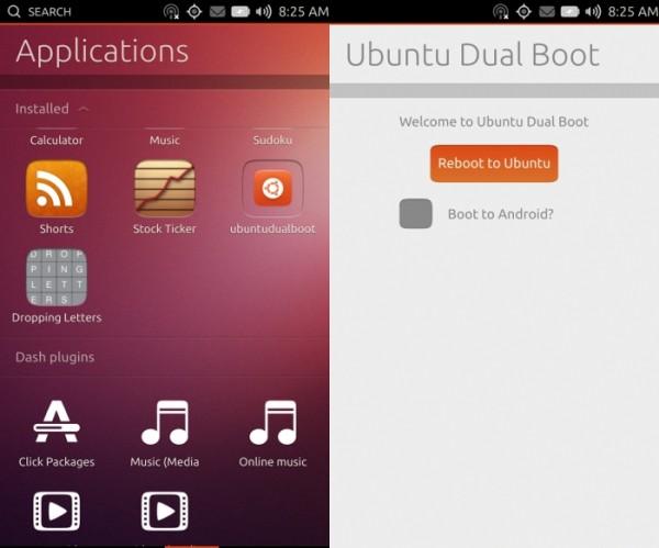 Interface do Ubuntu Touch