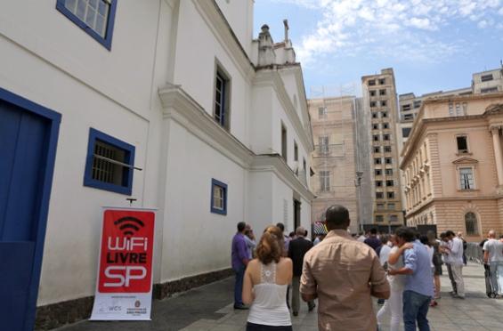 WiFi Livre SP no Pateo do Collegio (Fonte: Prefeitura de São Paulo)