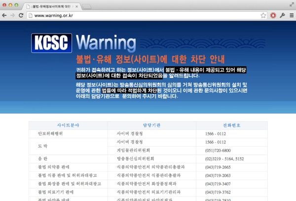 Coreia do Sul - Censura