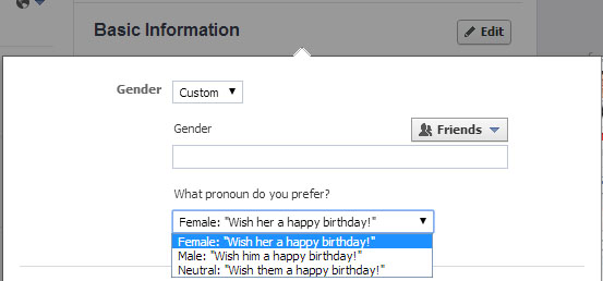 FB GENDER
