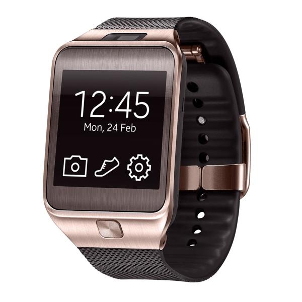 Samsung Gear 2 na versão dourada (imagem: Divulgação/Samsung)