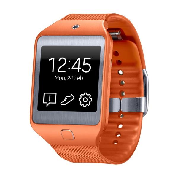 Samsung Gear 2 Neo na cor laranja (imagem: Divulgação/Samsung)