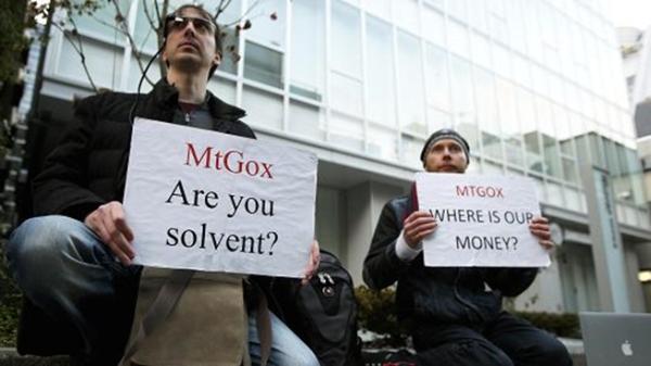 MtGox - protesto (Fonte: Bitcoin Feed)