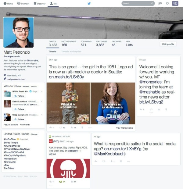 Redesign do Twitter