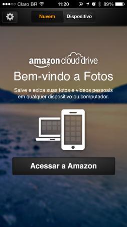 No Android e iOS, o app do Cloud Drive só permite visualizar fotos e vídeos