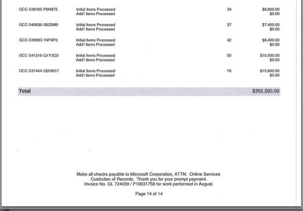 Um dos supostos documentos