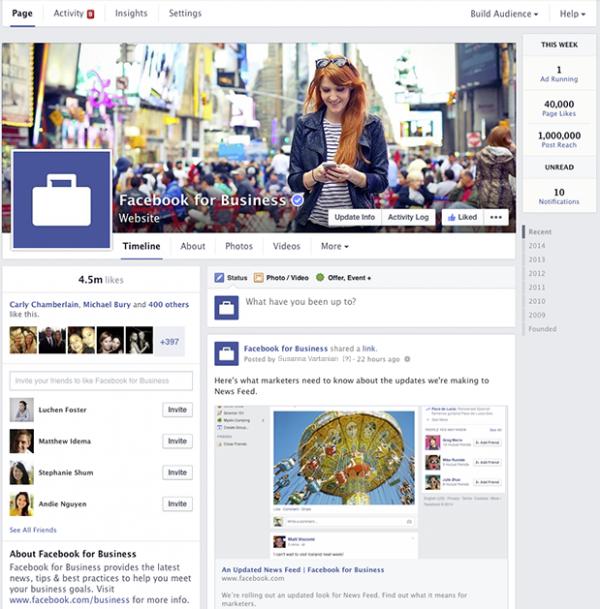 É assim que as páginas do Facebook ficarão em breve – Tecnoblog