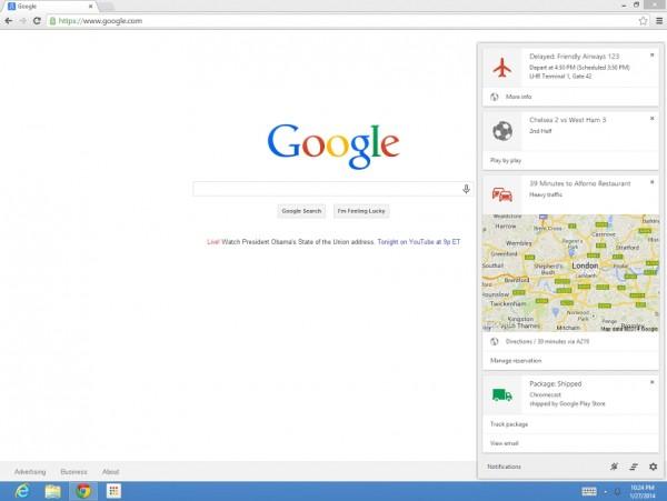 Google Now no Chrome