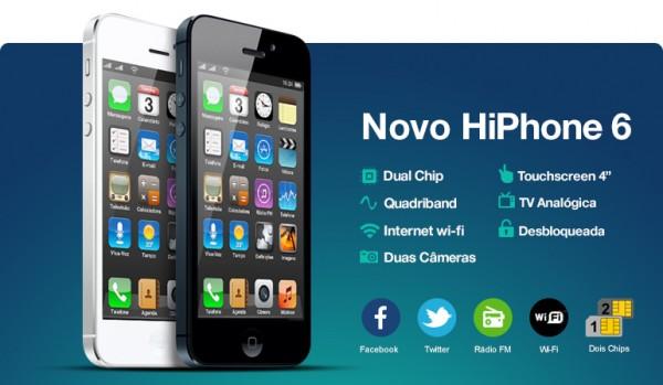 Enquanto uns sofrem para comprar iPhone 5s, outros já têm HiPhone 6 dual SIM e com TV