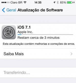 iOS 7.1: pequenos refinamentos