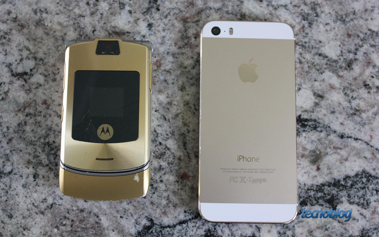 Motorola Razr V3i e iPhone 5s