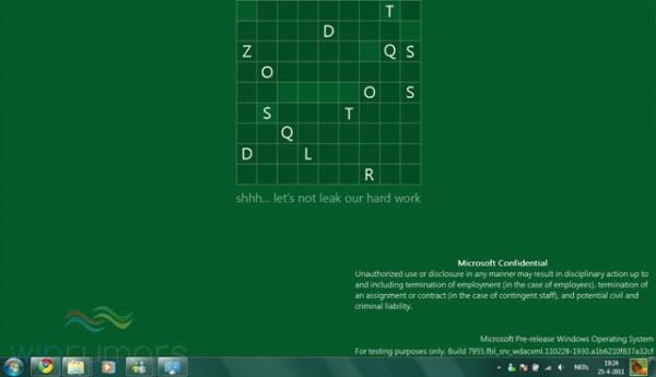 As primeiras versões internas do Windows 8 não eram muito diferentes do Windows 7