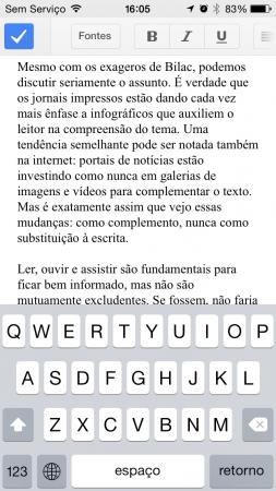 Google Documentos: nada além do básico