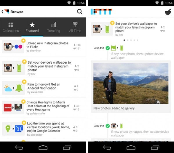 IFTTT para Android