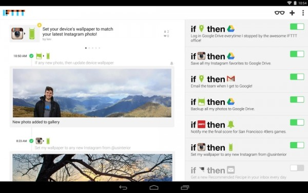 IFTTT para tablet Android