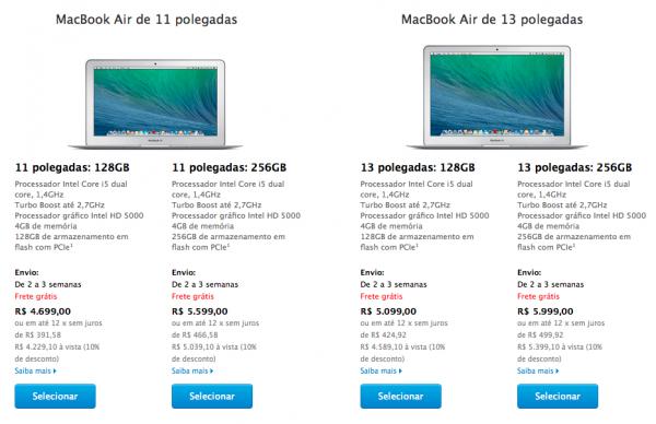 Novos MacBooks Air já podem ser comprados no Brasil