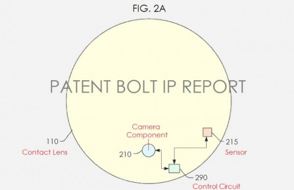 Patente Google: lentes com câmeras