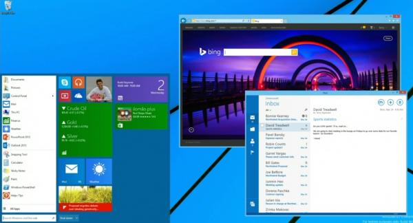 É assim que o Menu Iniciar do Windows 8.1 deverá ficar