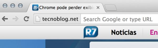 Chrome Canary - URL completa
