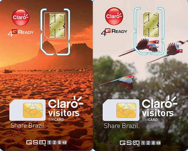 Chip Claro Visitors: tem imagens ilustrando o Brasil