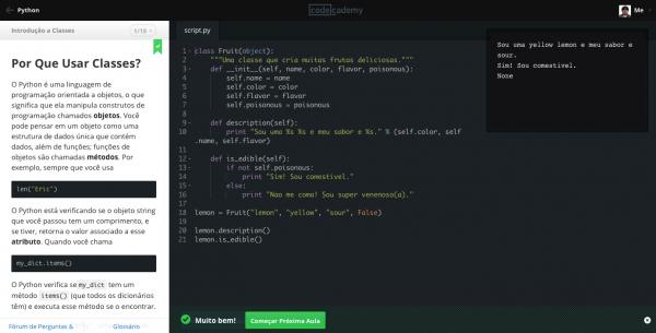 Codecademy: ótima plataforma para não ser um hacker de HTML de novela