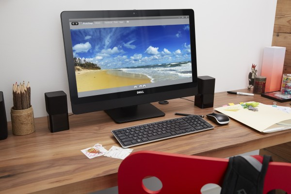 Home Office with Inspiron 23 Touch AIO Desktop