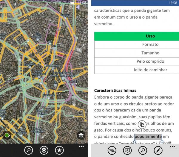 HERE Maps e Word no Lumia 1320