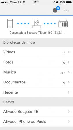 Não precisa configurar nada, é só abrir o aplicativo e acessar os arquivos
