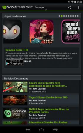 TegraZone dá acesso aos games otimizados para o chip da Nvidia