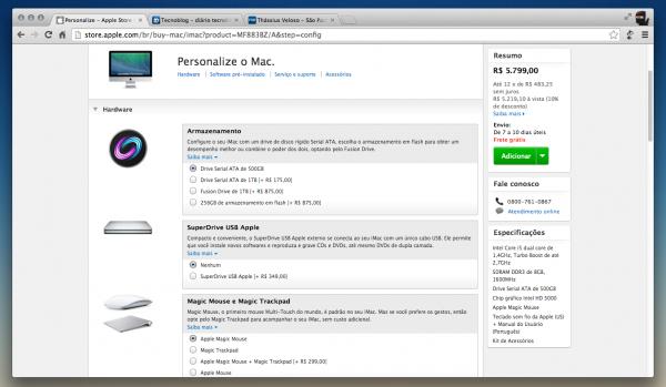 Novo modelo de iMac à venda no Brasil