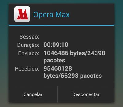 Aplicativo cria uma VPN conectando o smartphone aos servidores da Opera Software, nos EUA