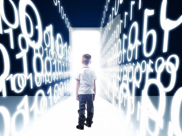 kid-and-binary-code-background