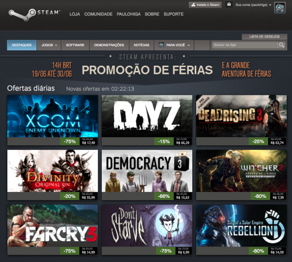 Steam promocao