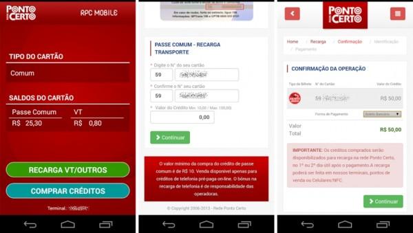 App para recarga de Bilhete Único