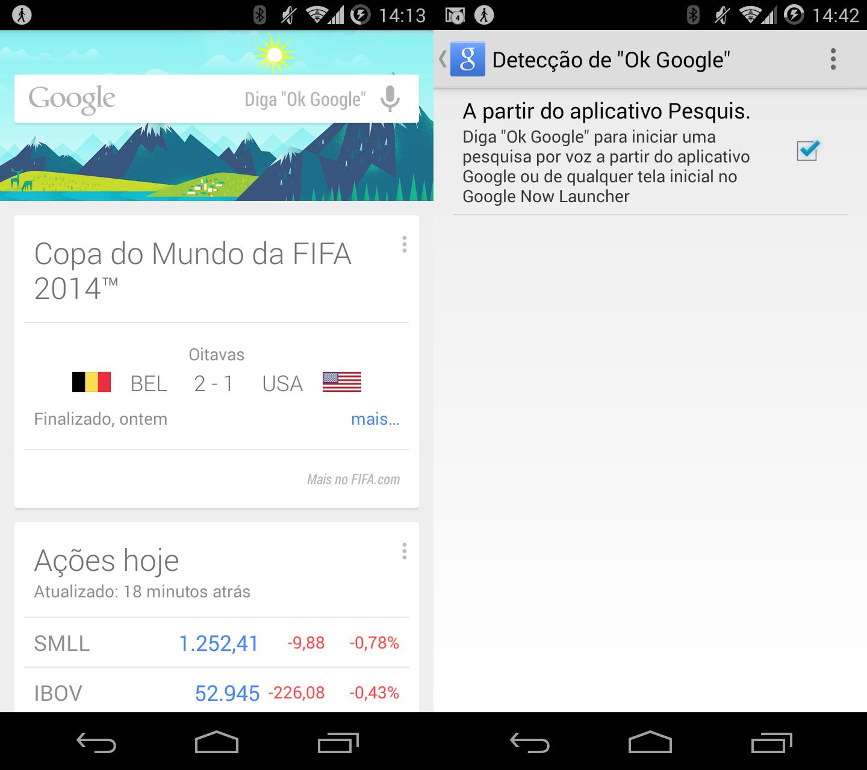 """""""Ok Google"""" agora funciona no Google Now em português - Tecnoblog"""