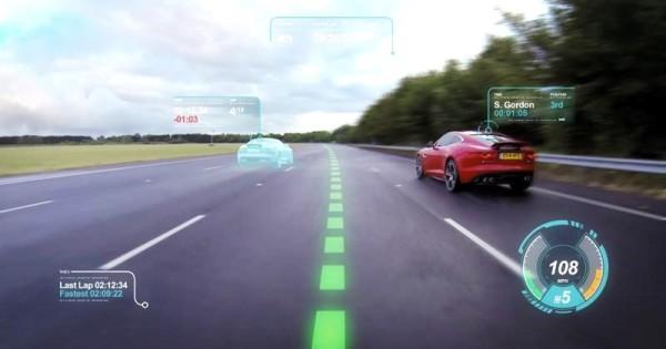 Conceito de realidade aumentada da Jaguar