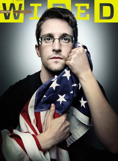 Capa da Wired com Edward Snowden