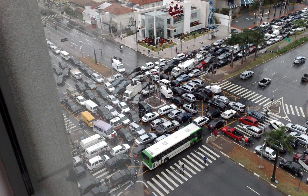 Um dia normal em São Paulo