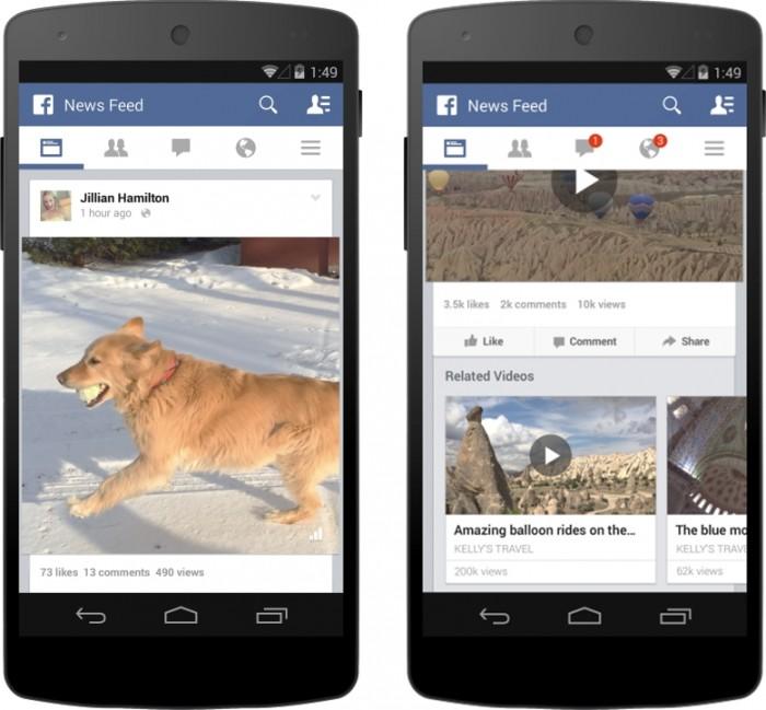Contador de visualizações nos vídeos do Facebook