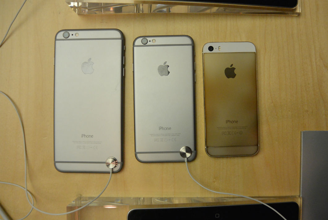 iPhone 6 Plus, iPhone 6 e iPhone 5s