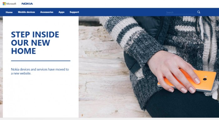 """""""Dispositivos e serviços da Nokia foram movidos para um novo site"""""""