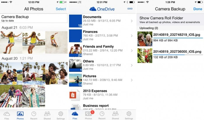 OneDrive para iOS