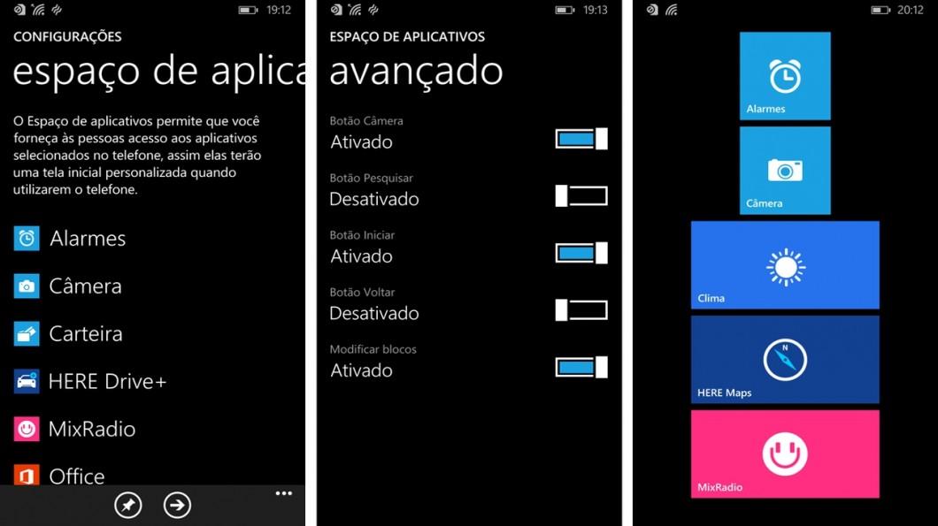 Espaço de aplicativos (App Corner)