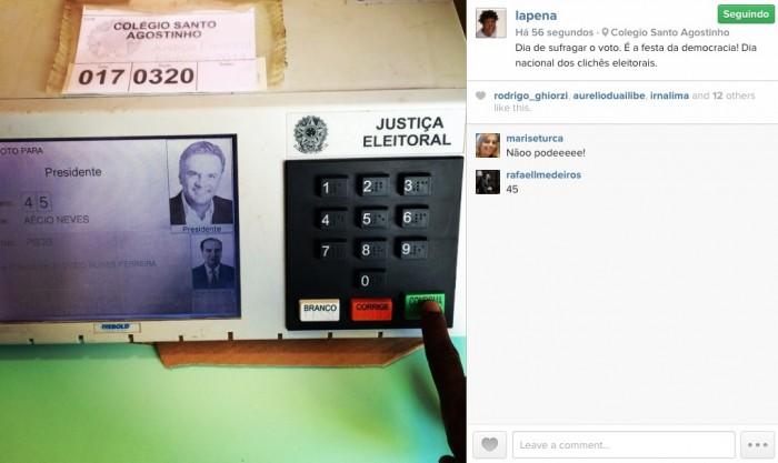 Eleitor publica foto da urna