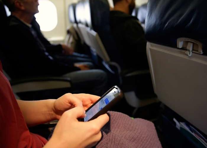 Smartphone no voo