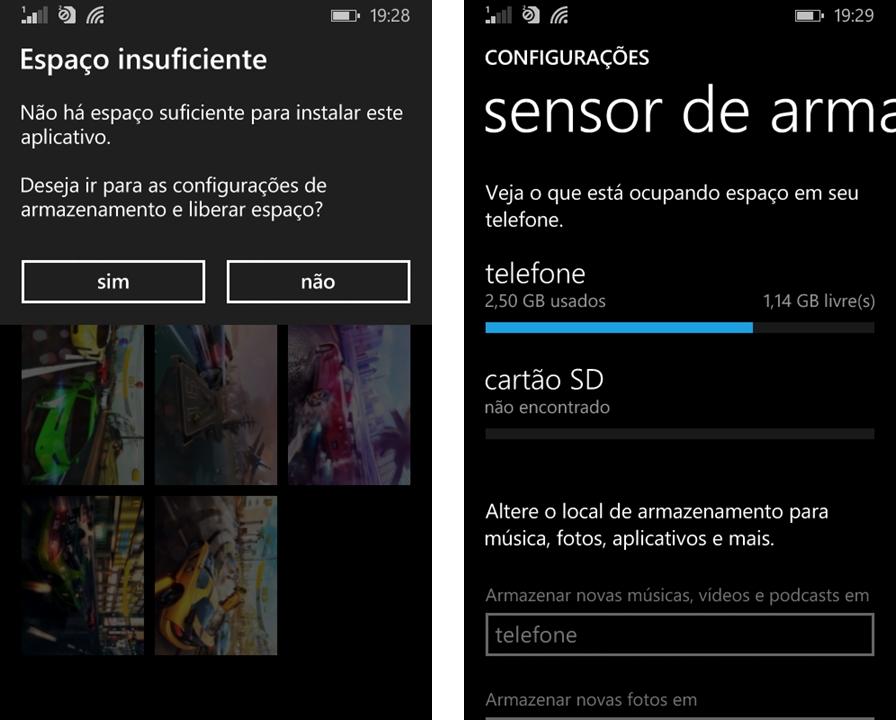 Espaço - Lumia 530