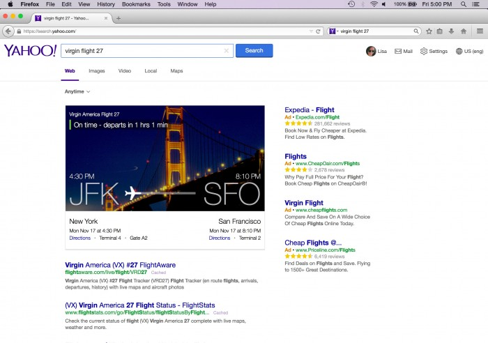Yahoo no Firefox