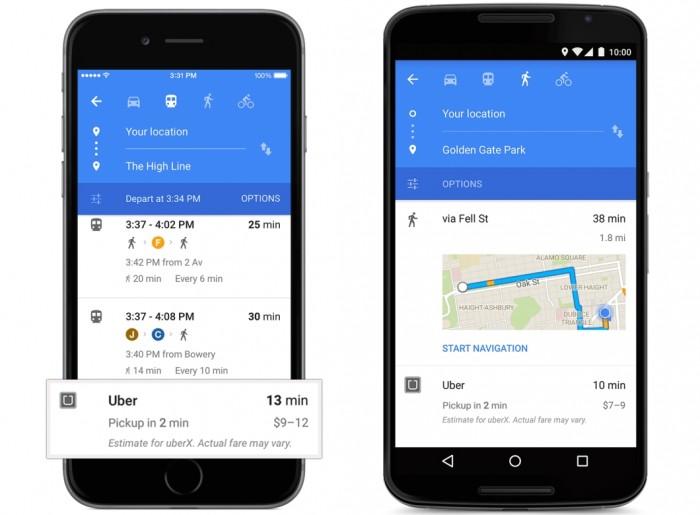 Integração do Maps com o Uber