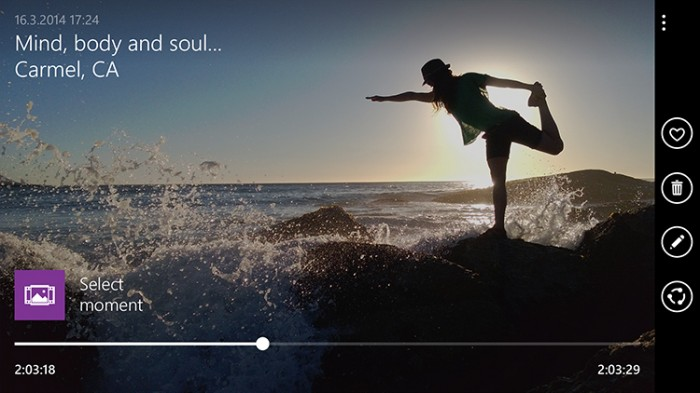 Moment Capture faz vídeos em 4K a 24 fps